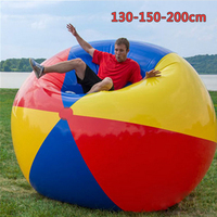130/150/200cm Giant PVC Colorful Inflatable Volleyball Beach Ball Swimming Pool Inflated Toy Balls for Summer Holiday Outdoor
