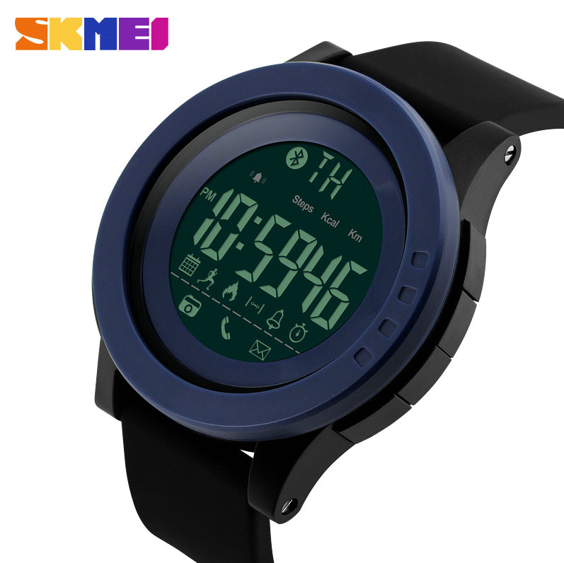 SKMEI Fashion Smart Watch Men Bluetooth App Remind Sleep Monitor Pedometer Multifunction Outdoor Sport Waterproof Wrist Watches