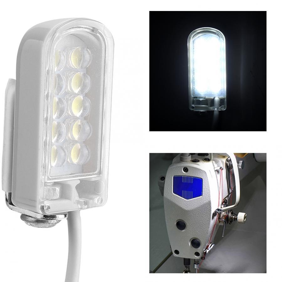 AC 110-265V LEVOU a Trabalhar Luz Gooseneck Lâmpada Com Base Magnética Para Máquina De Costura de Costura Com Plugue DA UE