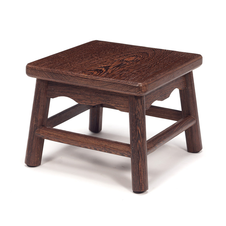 Solid Rosewood Wooden Step Stool Bench Multipurpose Durable Sturdy Wooden Step Stool Squ ...