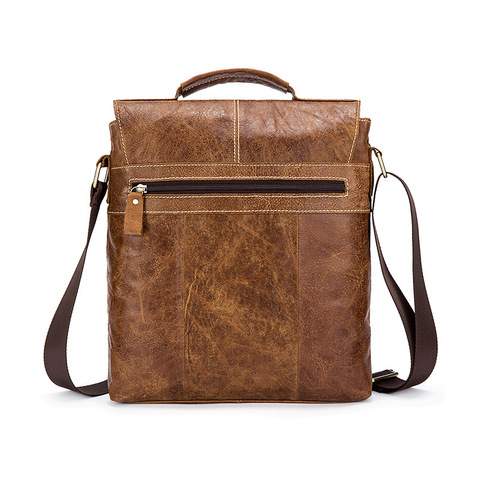 Designer Brand Messenger Bags Vintage Genuine Leather Bags For Men Business Office Handbags Casual Cow Leather Shoulder Bags Islamabad