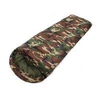 MACH-3 Season Single Adult Waterproof Camping Hiking Suit Case Envelope Sleeping Bag Colour:Military green camouflage