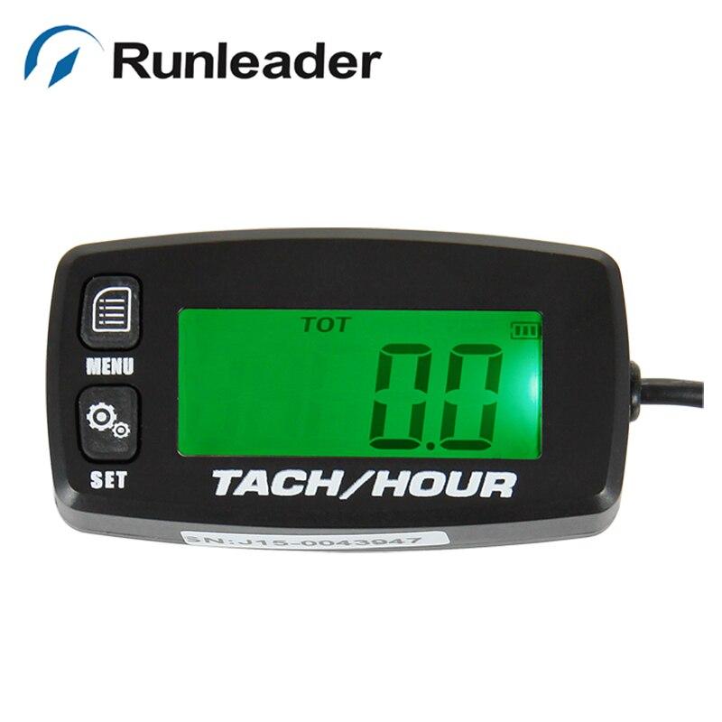 Retroiluminado temporizador digital Contador de horas Tacómetro para - Accesorios y repuestos para motocicletas