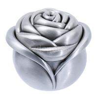 Rose Flower Ring Necklace Earring Jewelry Gift Boxes Storage Cases 6x6x5cm