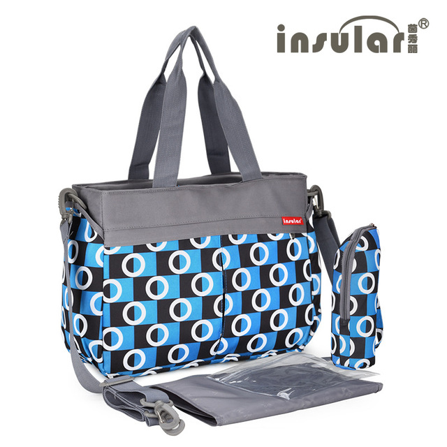 Insular Diaper Bag Ny Changing Mat Cup Women Mummy Tote Bags Multifunctional Las Shoulder