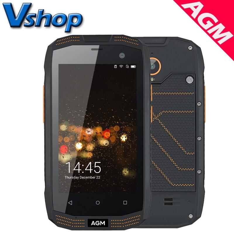 "Original AGM A2 4G LTE Mobile Phones Android 5.1 2GB RAM 16GB ROM Quad Core Smartphone IP68 Waterproof 4.0"" Dual SIM Cell Phone"