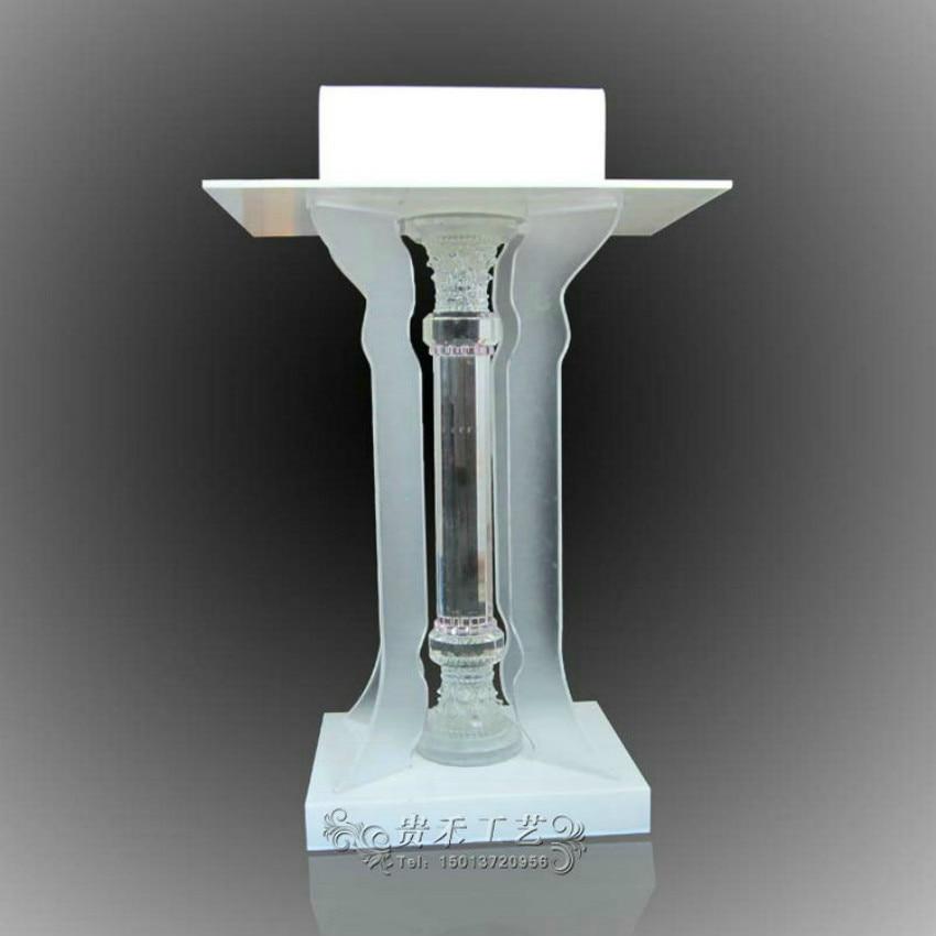 Colonne en cristal acrylique debout, Podium debout, lutrin (transparent) GUIHEYUNColonne en cristal acrylique debout, Podium debout, lutrin (transparent) GUIHEYUN