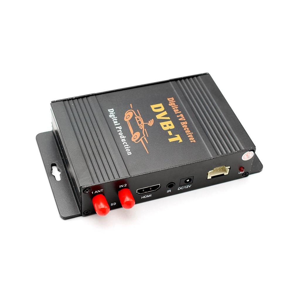 Vancago Car HD DVB-T TV Box TV Receiver Dual Tuner Mpeg4 Car Digital TV Tuner For Car DVD With USB HDMI interfaces tv034 dvb t mpeg 4 car digital tv receiver black