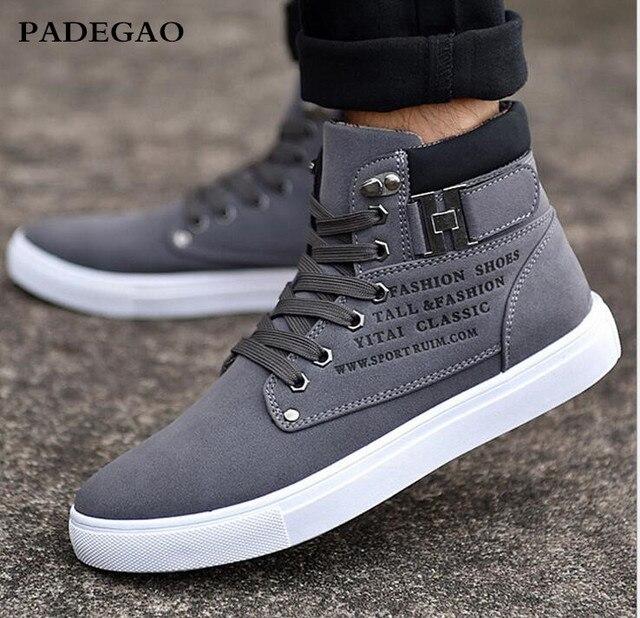 826839dc869 PADEGAO 2017 Del Otoño Del Resorte Zapatos de Los Hombres Calientes Zapatos Tenis  Masculino Zapatos Masculinos