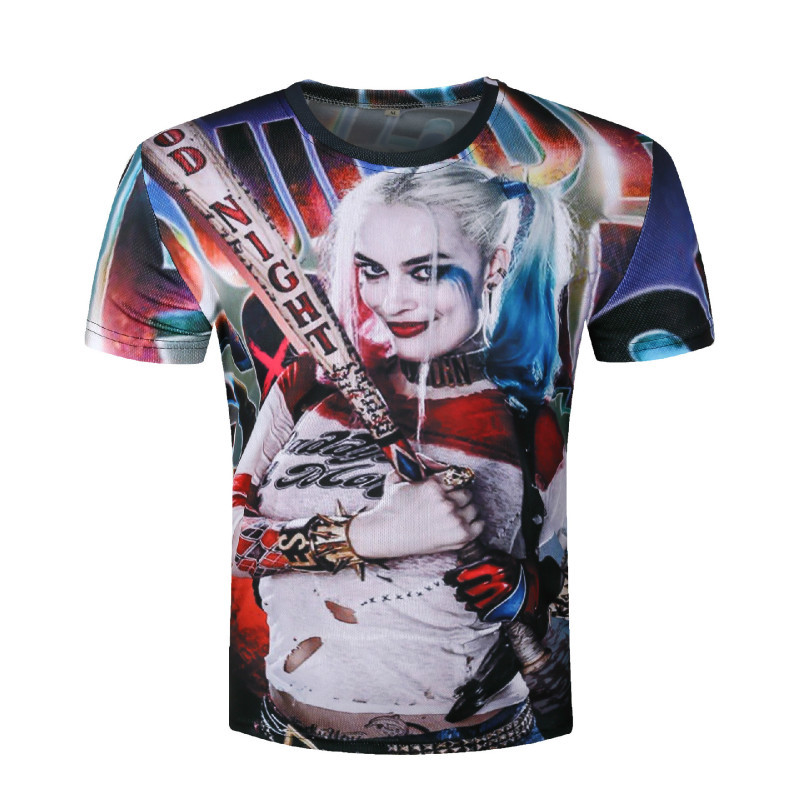 Suicide Squad Harley Quinn Joker T-Shirt 3D man Printed t-shirts Tee Top Men fashion tshirts mens clothing t shirts shirt homme
