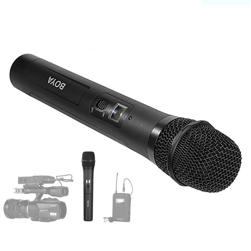 Transmetteur UHF portable sans fil à Microphone dynamique de BY-WHM8 avec canaux 48UHF