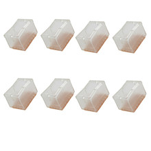 New 8 pcs Silicone Rectangle Square Transparent Chair Leg Caps Feet Pads Furniture Table Covers Wood Floor Protectors(China)