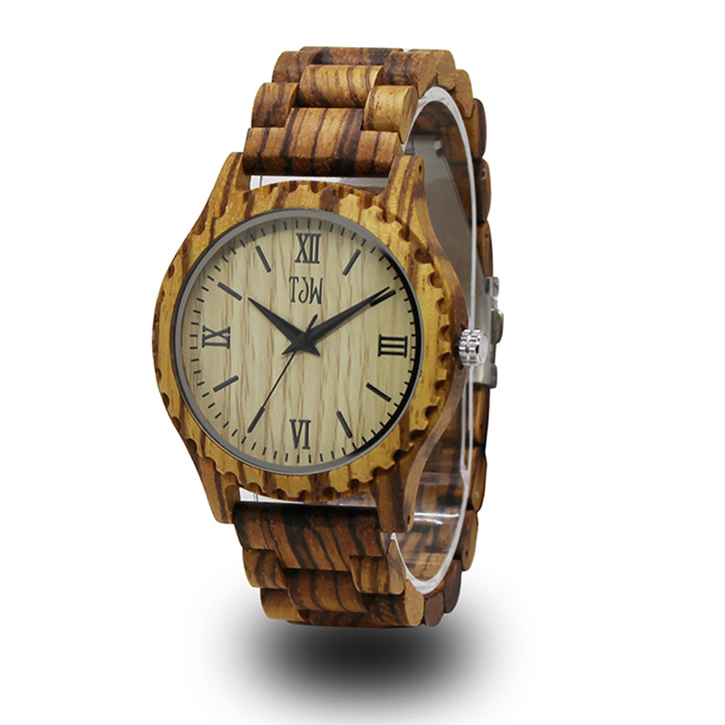 Best-seller Zebra Pattern Bamboo Watches For Men Cool Thin Designer Watch Retro Simple Wood Quartz Cheap Wristwatch(China)