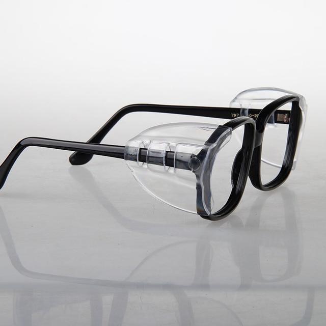 2 زوج أغطية حماية للنظارات SideShields للنظارات قصر النظر السلامة رفرف الجانب ورقة واقية مكافحة الرمال سبلاش