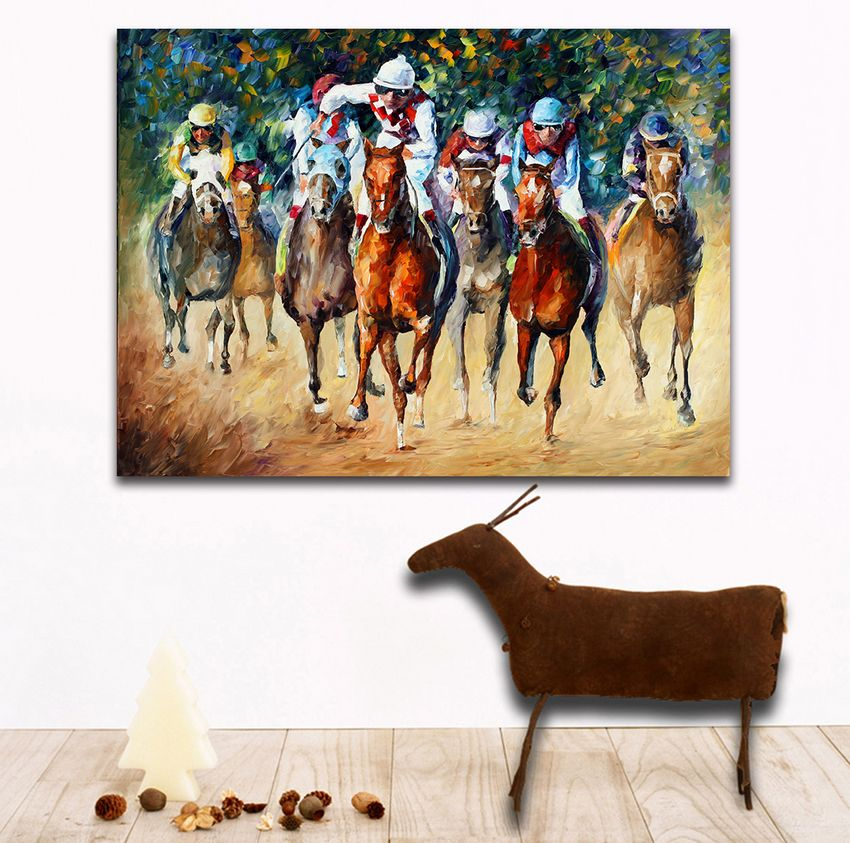 Modern 100 Handpainted Palette font b Knife b font Painting Race on The Sand And Snow