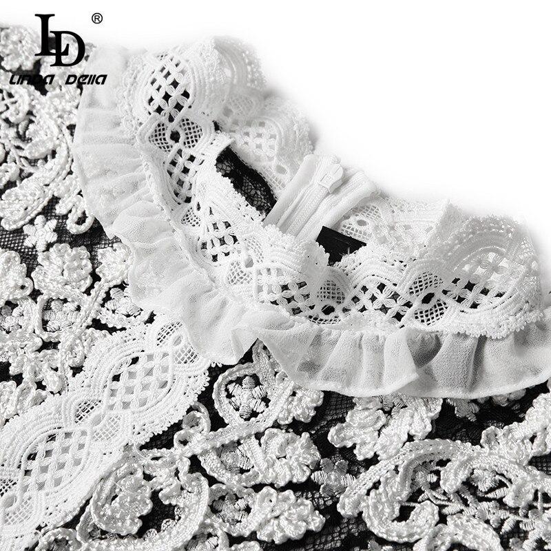 Deniz Nazan · ファッションロングドレス女性の長袖レースメッシュ花刺繍パッチワークヴィンテージドレスエレガントなパーティードレス