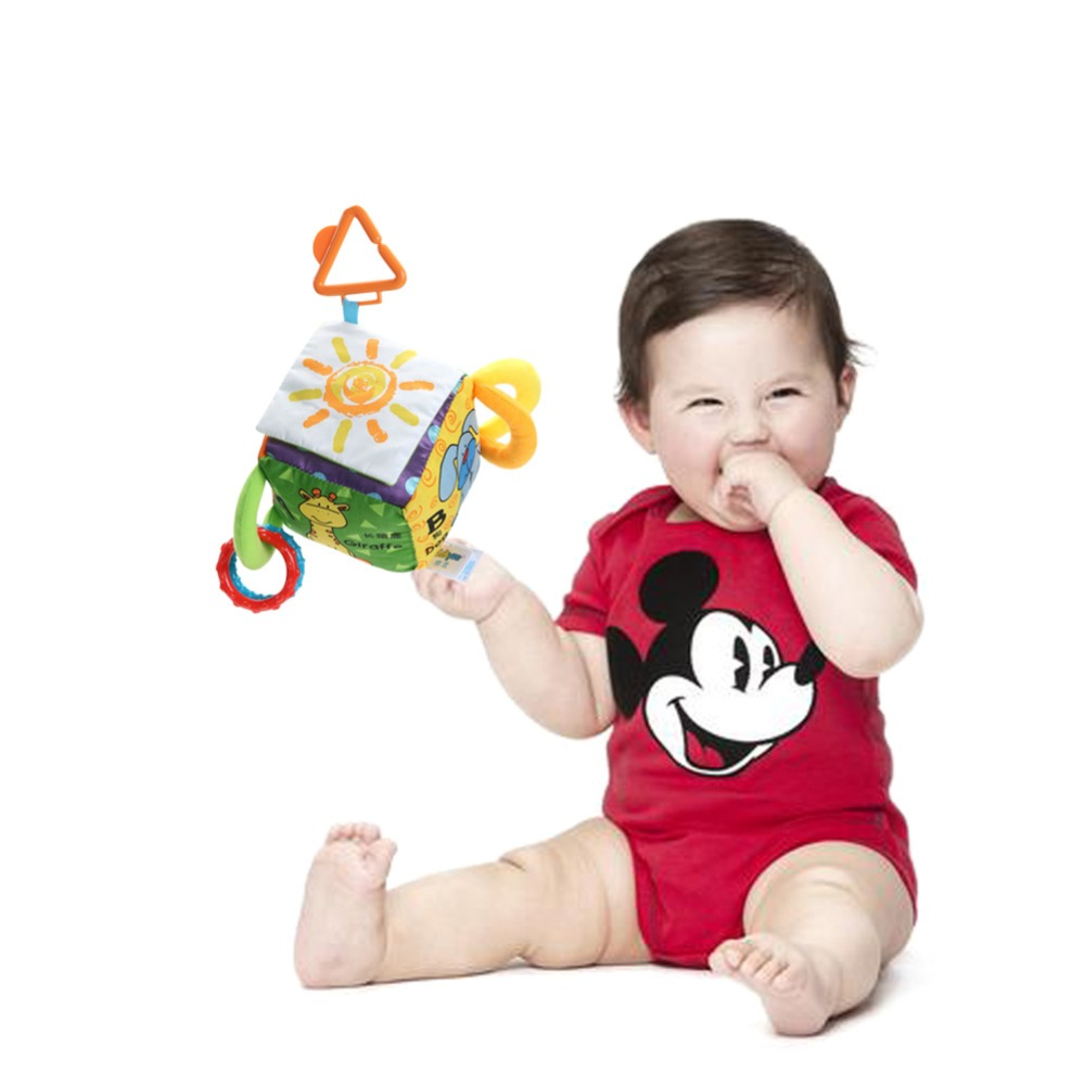 Newborn Baby Rattle Toys Cartoon Animal Plush Hand Bell Toys Stroller Crib Hanging Rattles Kawaii Infant Toys Christmas Gifts