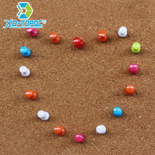 50pcs/lot New Mixing Colors Office Push Pins Colored Map Plastic Pins Stationery Accessories Office&School Supplies