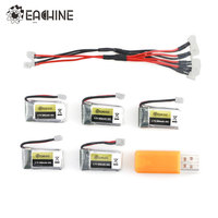 5PCS Eachine E010 E010C E011 E011C E013 3 7V 260MAH 45C Rechargeable Lipo Battery USB Charger