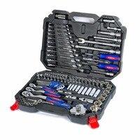 WORKPRO 123 шт. набор инструментов для ремонта автомобиля механик наборы инструментов отвертки, гаечные ключи розетки