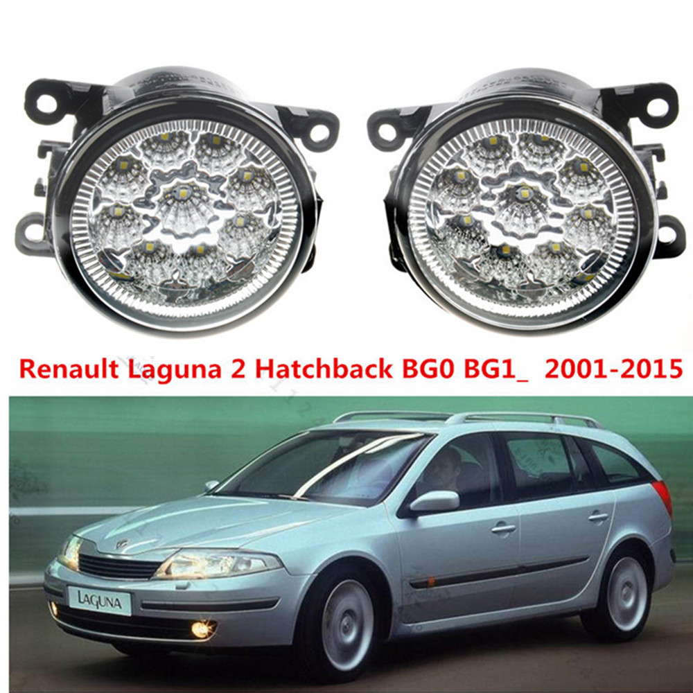 For Renault Laguna 2 Hatchback BG0 BG1_ 2001-2015 Car styling LED fog Lights high brightness fog lamps 1set for lexus rx gyl1 ggl15 agl10 450h awd 350 awd 2008 2013 car styling led fog lights high brightness fog lamps 1set