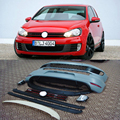 Golf 6 MK6  Auto Car Body Kits,Tuning bumper for vw(front bumper ,front fog mask ,front grill, Side skirt, diffuser,rear bumper)