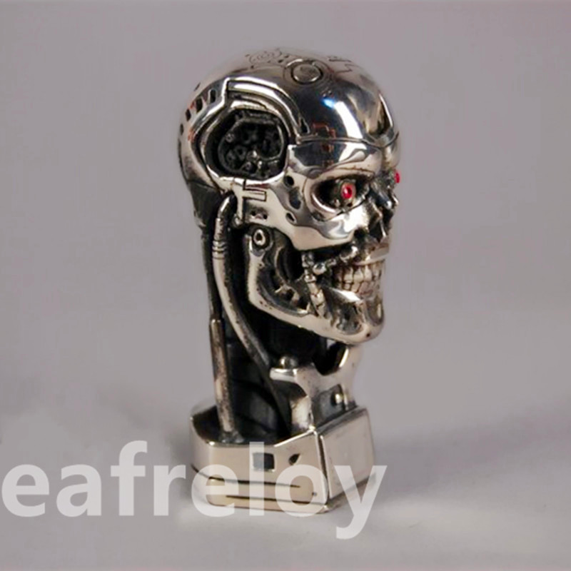 Hot NEW 1:6 Terminator Statue T800 Skull Endoskeleton Arnold Schwarzenegger Bust 925 Sterling Silver Limited Edition W1 new mf8 eitan s star icosaix radiolarian puzzle magic cube black and primary limited edition very challenging welcome to buy