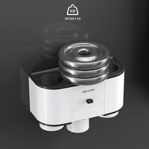 Image 5 - ONEUP Tandenborstelhouder Automatische Tandpasta Dispenser Squeezer Wall Mount Badkamer Opbergrek Thuis Badkamer Accessoires Sets