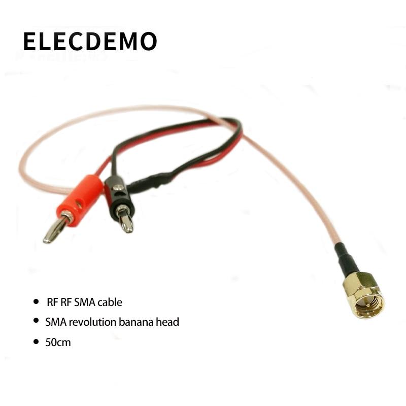 SMA To Banana Head Connector RF RF SMA Cable SMA Male To Banana Head 50cm Line Length