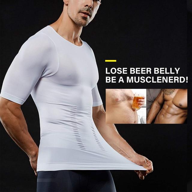 Lover Beauty Men Slimming Body Shaper Vest Shirt Abs Abdomen Slim Compression Shirt Tummy Control Weight Loss Tank Top Shapewear 3