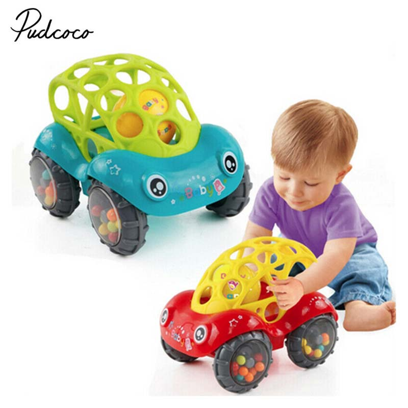 2019 Brand 1 Piece Rattle and Roll Car, Assorted Colors O Ball Play Toy Kids Game Toddler Gift-in Diecasts & Toy Vehicles from Toys & Hobbies