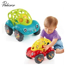 2019 Brand 1 Piece Rattle and Roll Car, Assorted Colors O Ball Play Toy Kids Game Toddler Gift