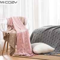 New Fashion Cotton Knitted Blanket Bed Sofa Office Car Multi Use All Season Geometric Nap Decoration Blanket