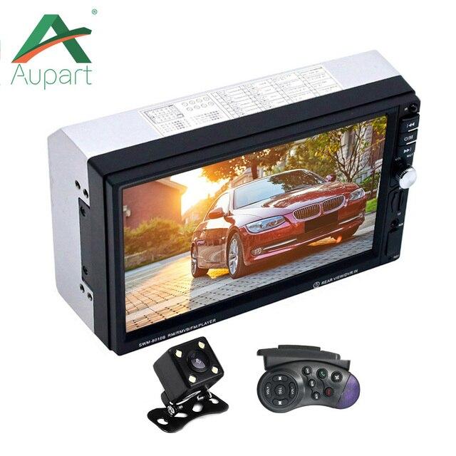 Автомагнитолы 2 din общие моделей автомобилей 7 ''дюймовый ЖК-дисплей Сенсорный экран автомобиля Радио плеер Bluetooth Аудиомагнитолы автомобильные Поддержка заднего вида Камера USB