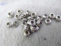 free ship 200pieces 4x8mm Lot Silver Plated CCB Spacer Bead brass connector jewelry finding