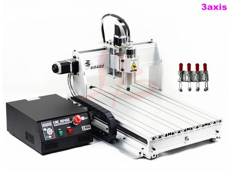 1.5KW cnc milling machine 6040Z USB Mach3 Auto with Ball screw 1605 cnc 6040
