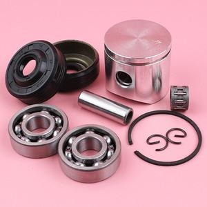 Image 5 - 38mm Piston Pin Ring Circlip Crank Bearing Oil Seal Needle Bearing Kit For Husqvarna 136 137 Chainsaw Parts