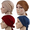 Bufanda musulmán del mantón del hijab Musulmán Islámico Underscarf Hijab Pañuelo en La Cabeza de la Mujer de Algodón Cubierta Capó Headwrap beige color
