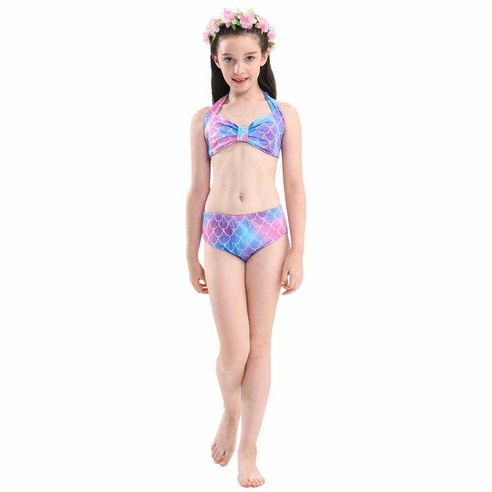 Хвост русалки для девочек, купальник для косплея, детский Блестящий купальный костюм с хвостами русалки, комплект купальников с моновинкой