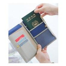 Reisebrieftaschen Reisepass Dokument Organizer Passdecke Frauen Männer Passport Wallet Abdeckung Fall mit Kredit id Kartenhalter