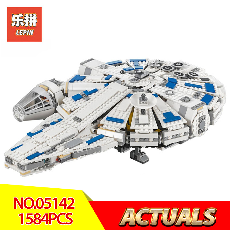 Lepin 05142 Star Wars Series Building Blocks Force Awakens Millennium Legoed 75212 Kessel Run Millennium Falcon Model Kids Toys dhl lepin 05142 star building blocks force toy awakens millennium kids toys falcon model legoings 75212 birthday christmas gifts