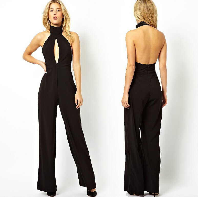 4e67cbc04bec Popular Xs Jumpsuit-Buy Cheap Xs Jumpsuit lots from China Xs ... 2016  summer turtleneck chiffon women jumpsuits overalls party backless ...
