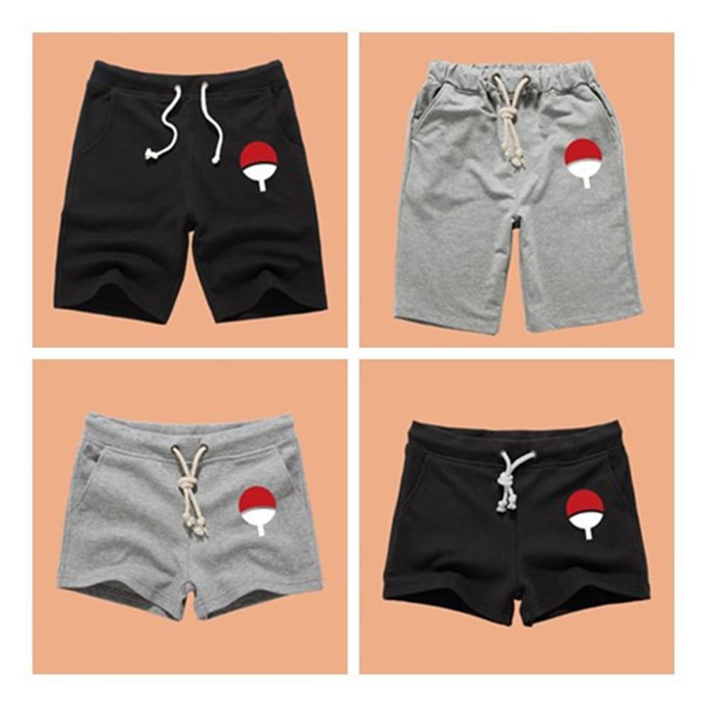 Anime sasuke Akatsuki Cotton Casual Short Pants Jogger Shorts Trousers Summer