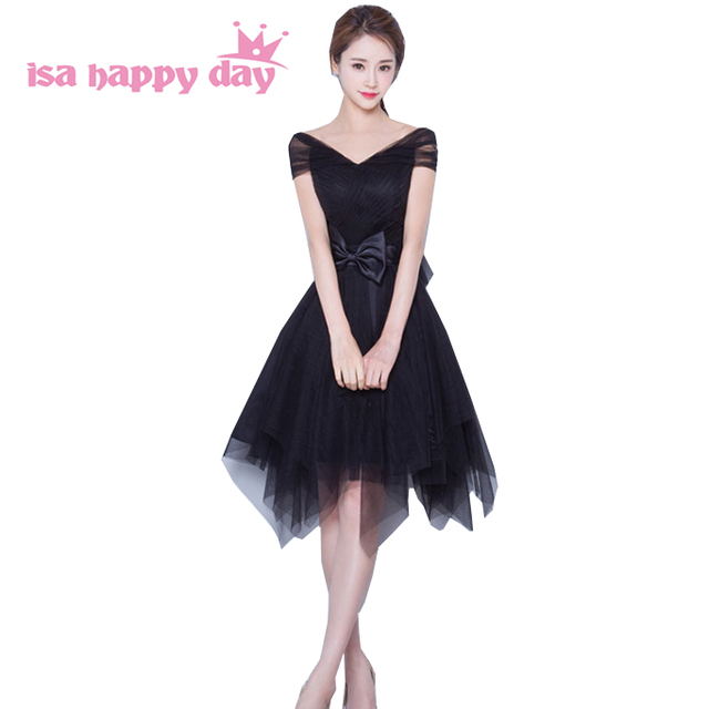 3ddc9a5e3fb1 beautiful modern burgundy black cute modest bridesmaids teenage bridesmaid  party dresses formal dress for girls from china B3815