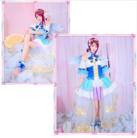 [STOCK] 2018 Anime Love Live Sunshine Aqours Sakurauchi Riko Angel Awaken Uniform Cosplay Costume For Halloween Free Shipping.