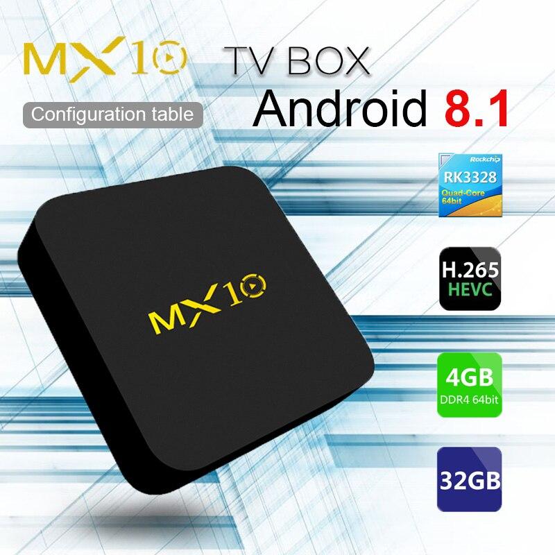 Achat MX10 4 Gb RAM 32 ROM Android 8 1 TV Box HDMI 2 0