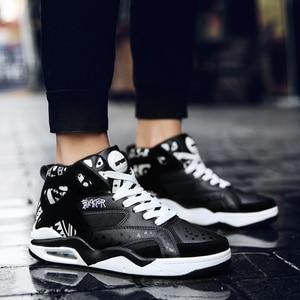 Image 5 - Moda casual sapatos masculinos respirável formadores alta superior almofada de ar tenis tênis masculino adulto krasovki tamanho 46 chaussures homme
