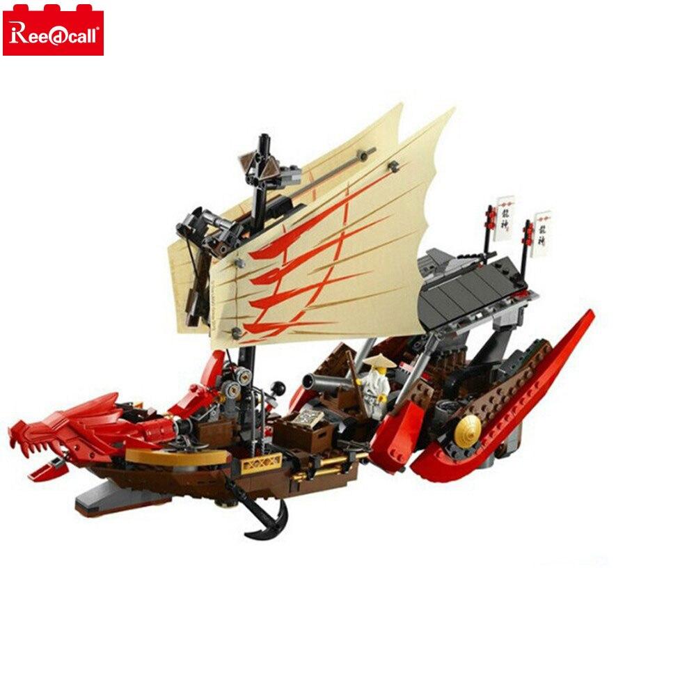Bela Ninjagoes Destin Bounty 9446 Modèle de Blocs de Construction Briques Enfants Enfants Film Jeux Jouets Compatible Avec Legoingly