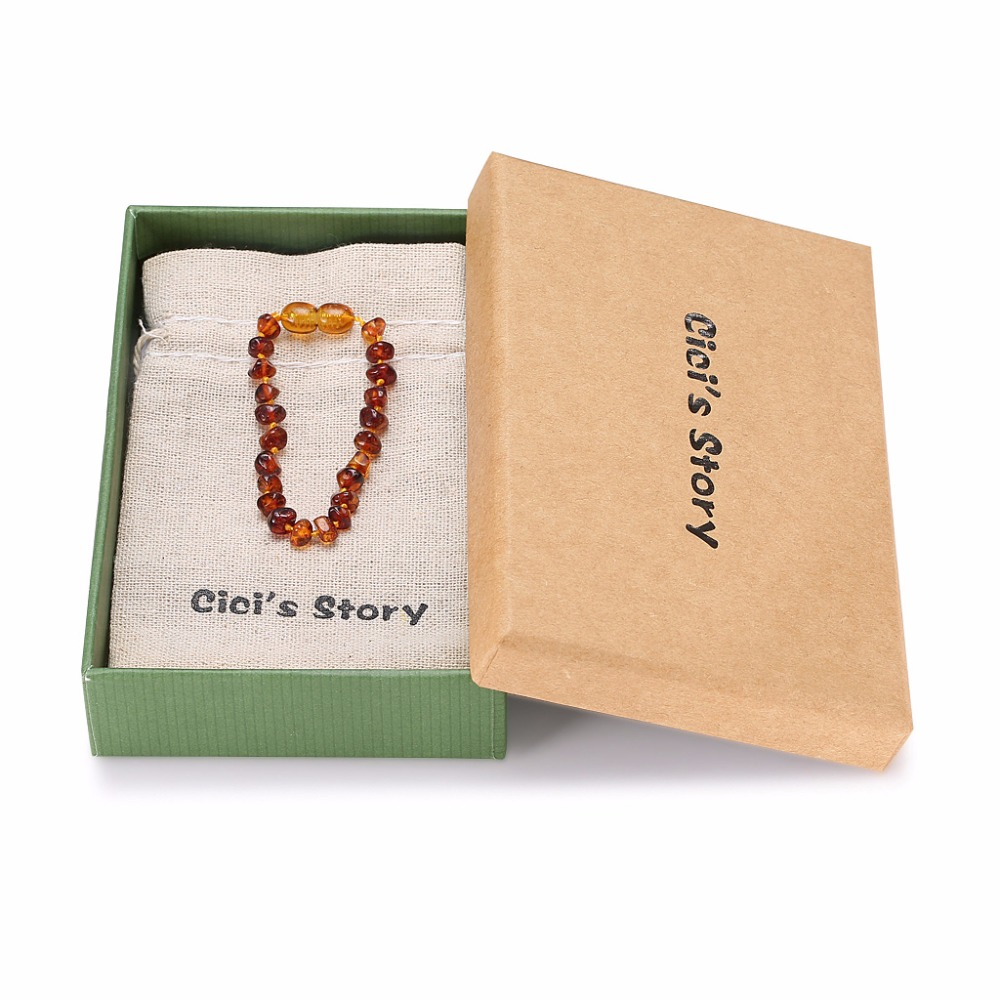 Baltic Amber Bracelet For Adult (Cognac) - 2 Sizes