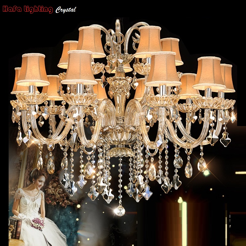 Modern crystal light Chandelier Lamp European-style Bedroom villa living room lights Chandelier lighting Crystals Indoor lights european living room chandelier lighting villa lights iron ceiling light restaurant led chandelier lamps bedroom lamp